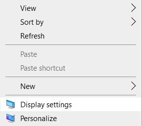 Select 'Display settings'