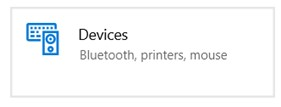 Select 'Devices' from the Settings page