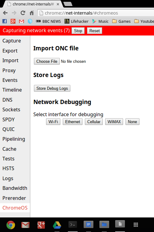 Open the network configuration page
