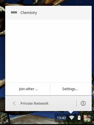 Select the Chemistry VPN