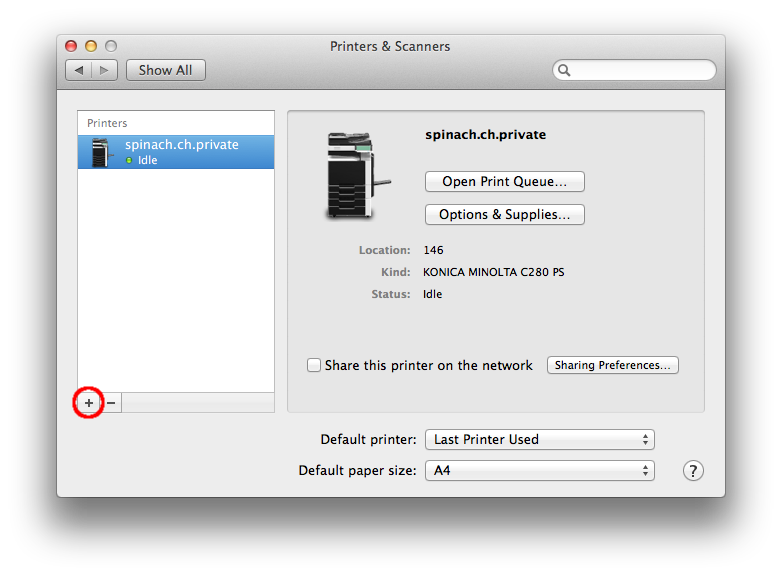 Adding a network printer from Mac OS X | Com on