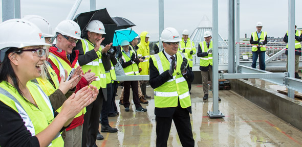Chemistry of Health building topping out ceremony 2017