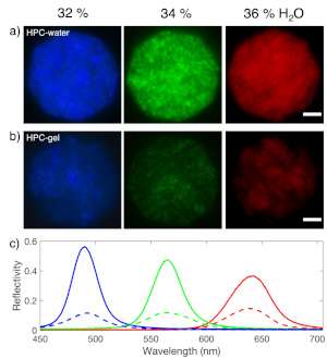 images of different coloured hydrogels