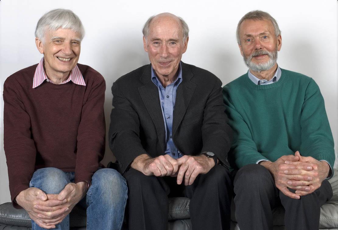 Emeritus Professors Ian Fleming and Tony Kirby with Dr Stuart Warren