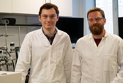 Researchers Virgil Andrei (left) and Erwin Reisner (right)