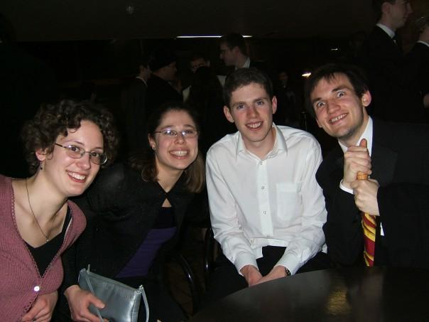 Erica, Robin S, Matt, and Andy (Keeler group)