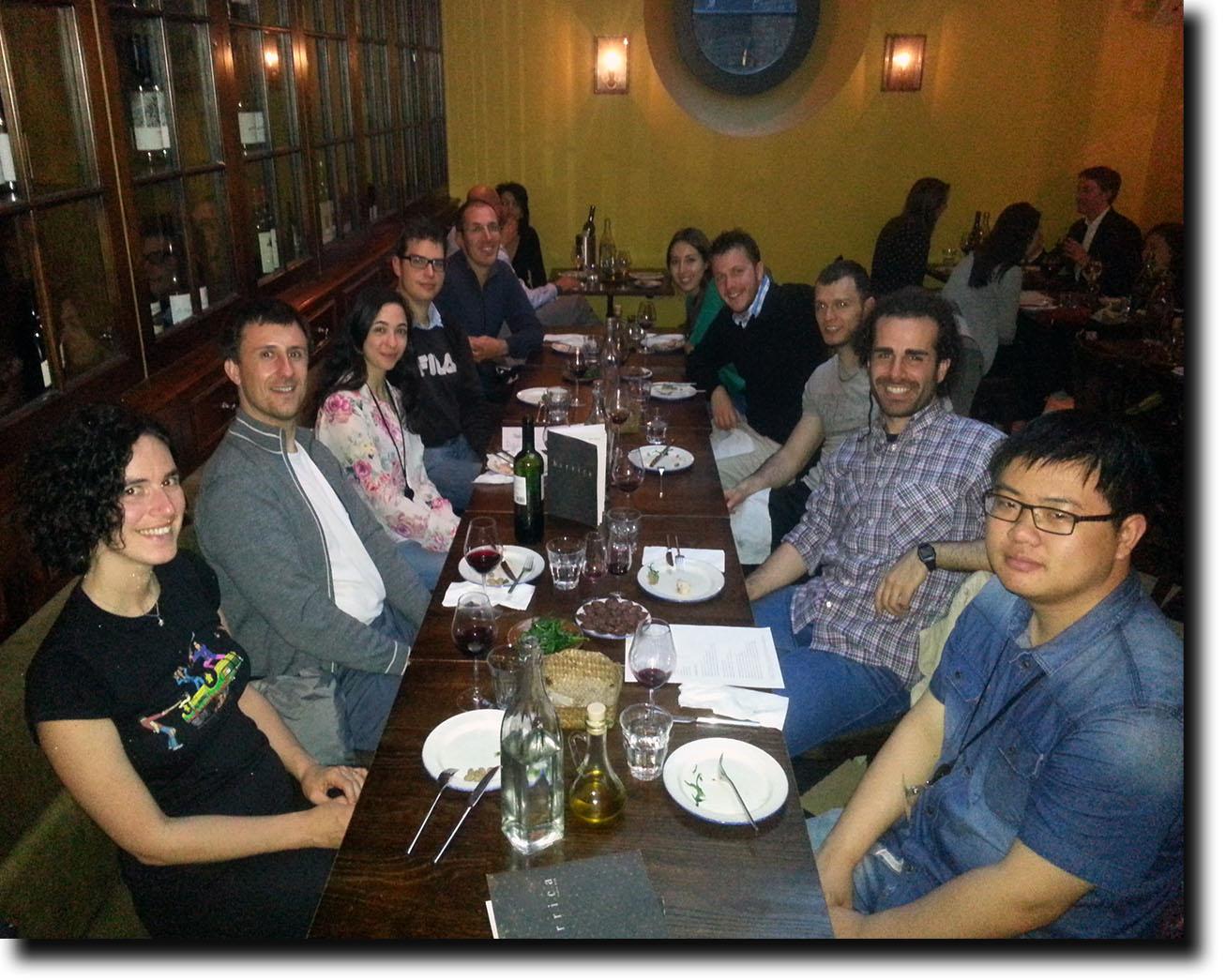 Left to right: Philipp, Chiara, Steve, Gabriella, Martin, Gabriele, Wei, Ji, Yasmine